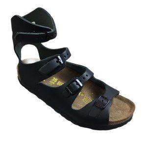 Birkenstock Black Athen Gladiator Sandals NWOT 35